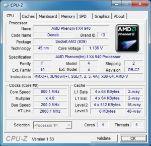 Phenom CPU when Idle